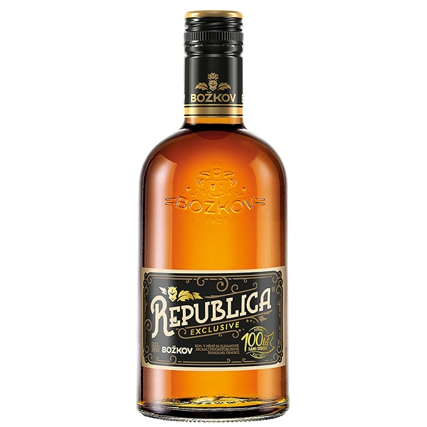 Rum Republica Exclusive Božkov 0,5l 38%