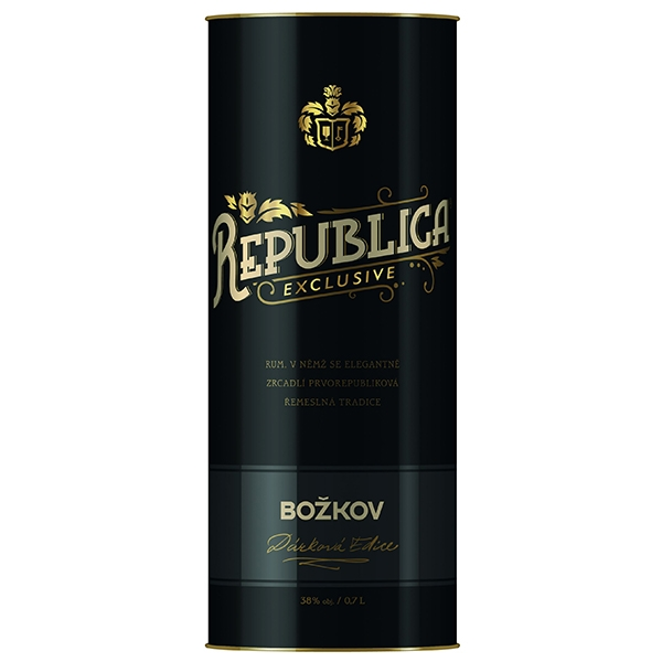 Rum Republica Exclusive Božkov 0,7l 38% Tuba