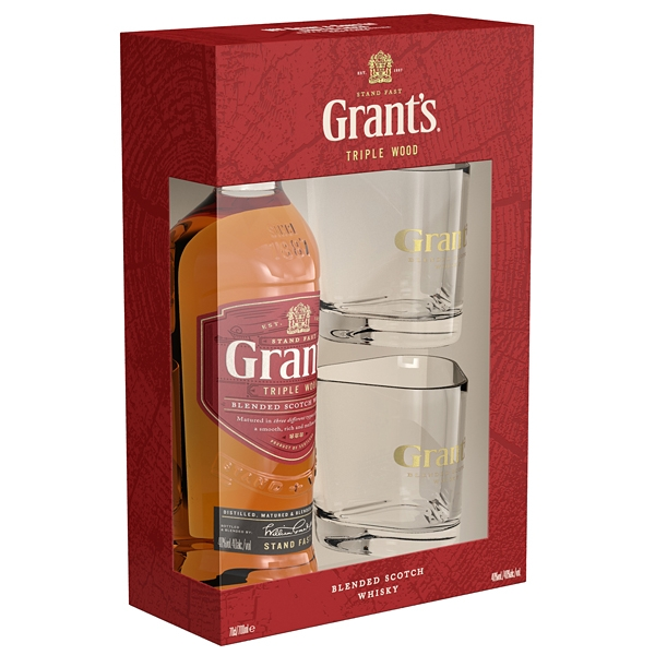Whisky Grants 0,7l 40%+2xSklo