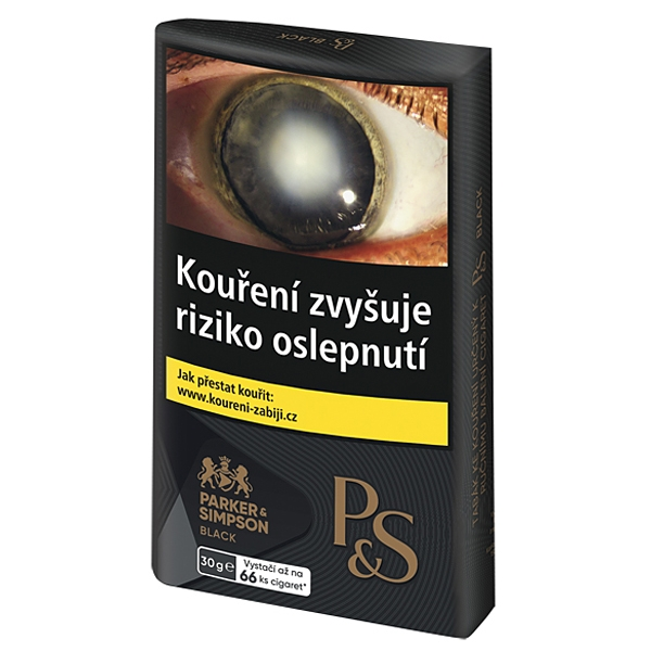 Tabák cigaretový P&S Black 30g TT