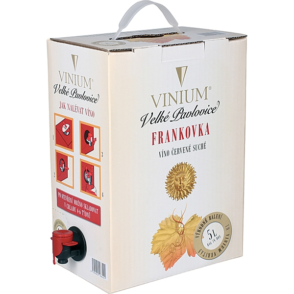 Frankovka Bag In Box 5l Vinium Velké Pavlovice