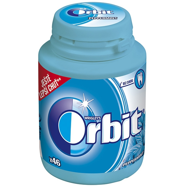 Orbit Peppermint Dražé 64g Dóza