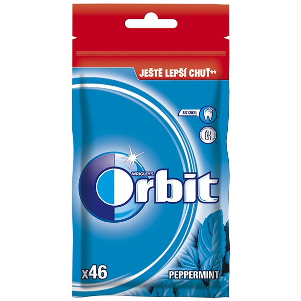 Orbit Peppermint Dražé 64g Sáček 15/BAL