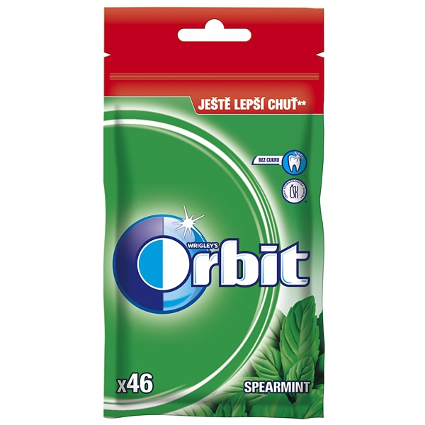 Orbit Spearmint Dražé 64g Sáček 15/BAL