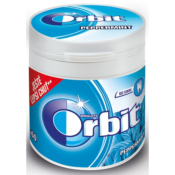 Orbit Peppermint Dražé 84g Piksla M-bottle 6/BAL