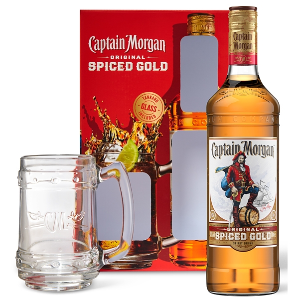 Captain Morgan Spiced Gold 0,7 35% + Korbel