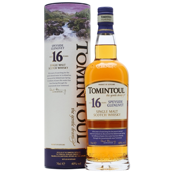 Tomintoul 16YO 0,7l 40% Single Malt Scotch Whisky