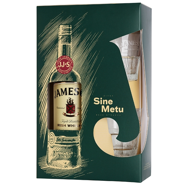 Jameson Irish Whisky 0,7l 40%+2xSklo