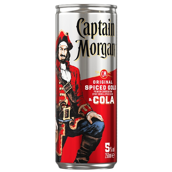 Captain Morgan Original Spiced Gold & Cola 0,25 plech 5%