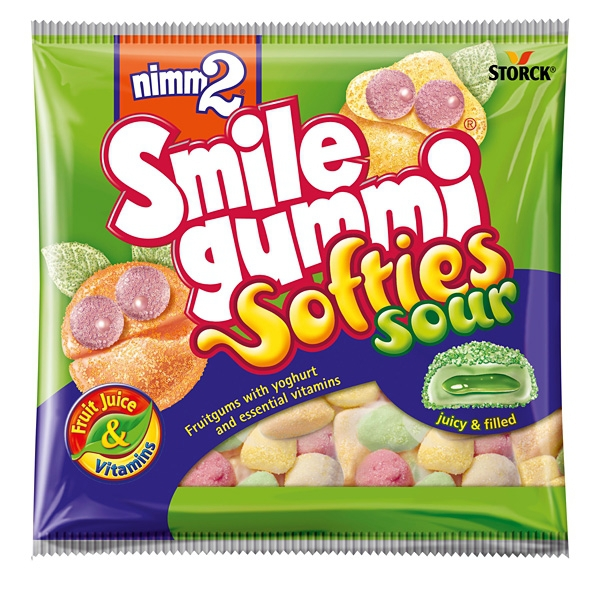 Nimm2 Smile Gummi Softies Sour 90g 18/BAL