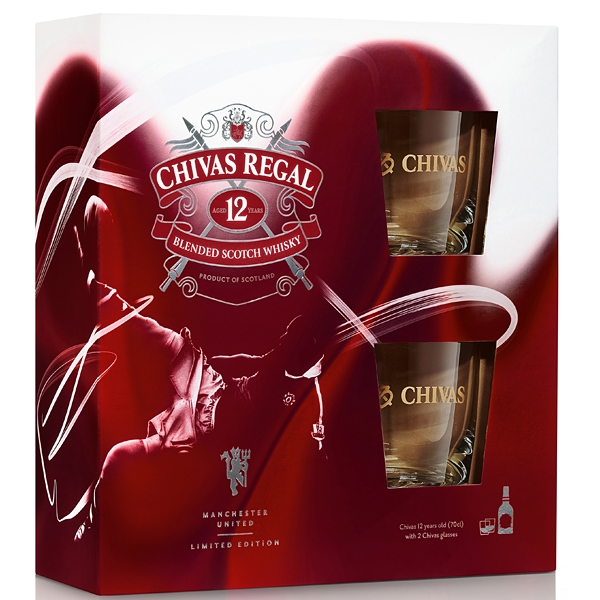Chivas Regal Whisky 0,7l 40%+2xSklo
