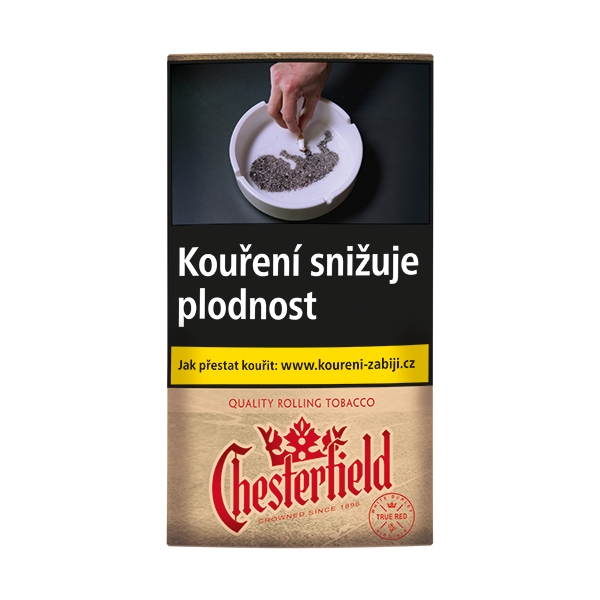 Tabák cigaretový CHESTERFIELD True Red 30g 120Kč SO