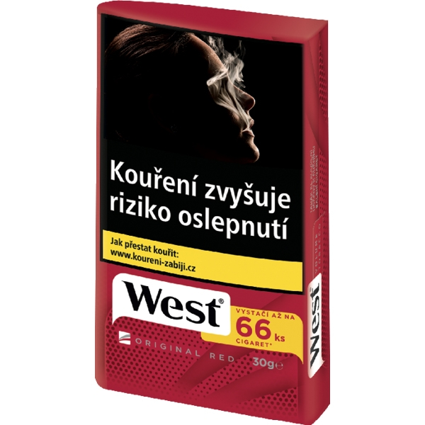 Tabák cigaretový West Red 30g